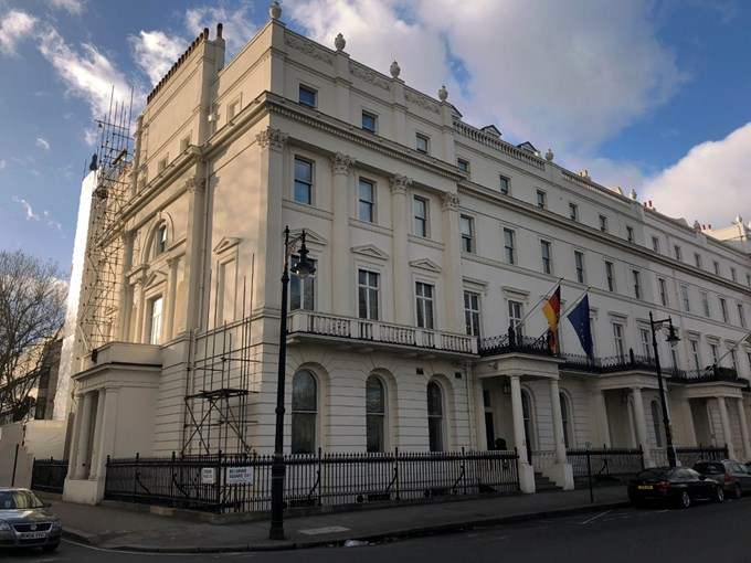 The German Embassy, SW1